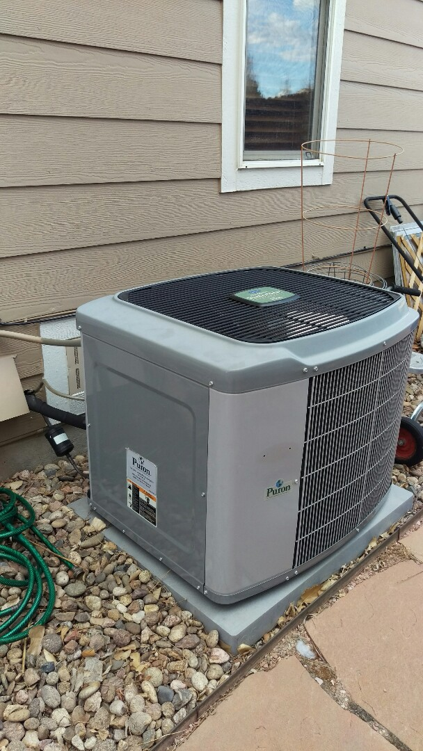 Aurora, CO - Smart homeowner they are having us install a new air conditioner before the heat of summer is on us