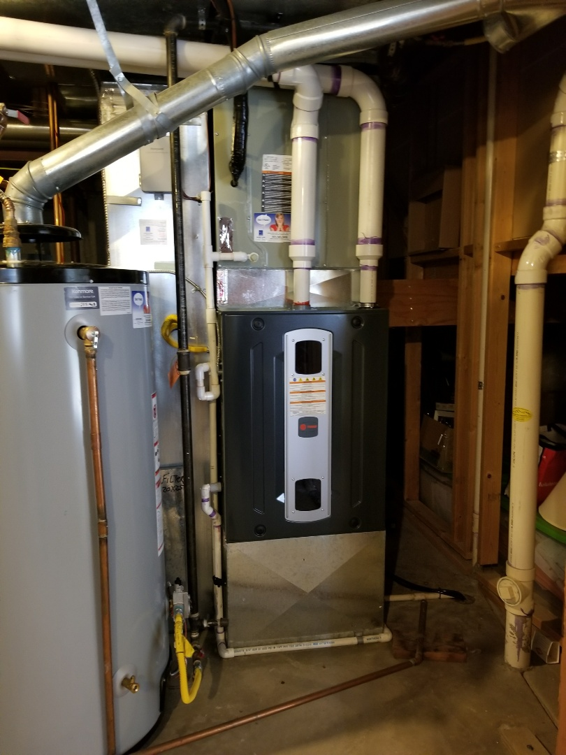 Lone Tree, CO - Install complete. Installed  Trane S9X2 high efficiency  furnace. Home is comfortable and owner is thrilled with Horizon Services