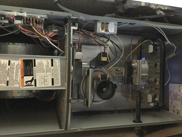 Pittsburg, CA - Heater service call. Repairs Carrier furnace