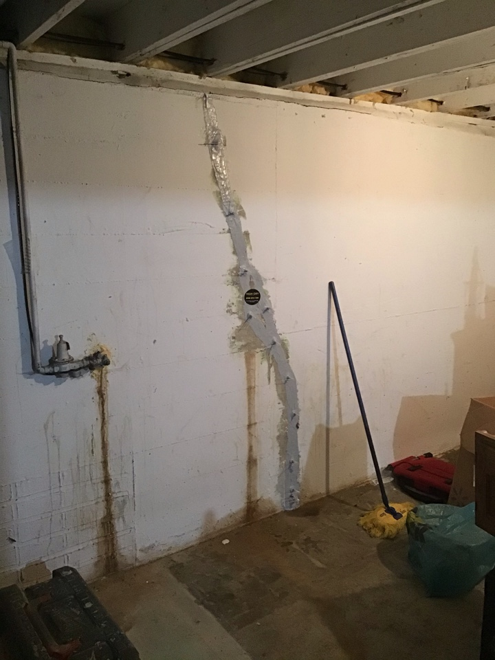 We waterproofed a leaking crack in the basement of this property. It now has a lifetime of the structure waterproofing warranty!