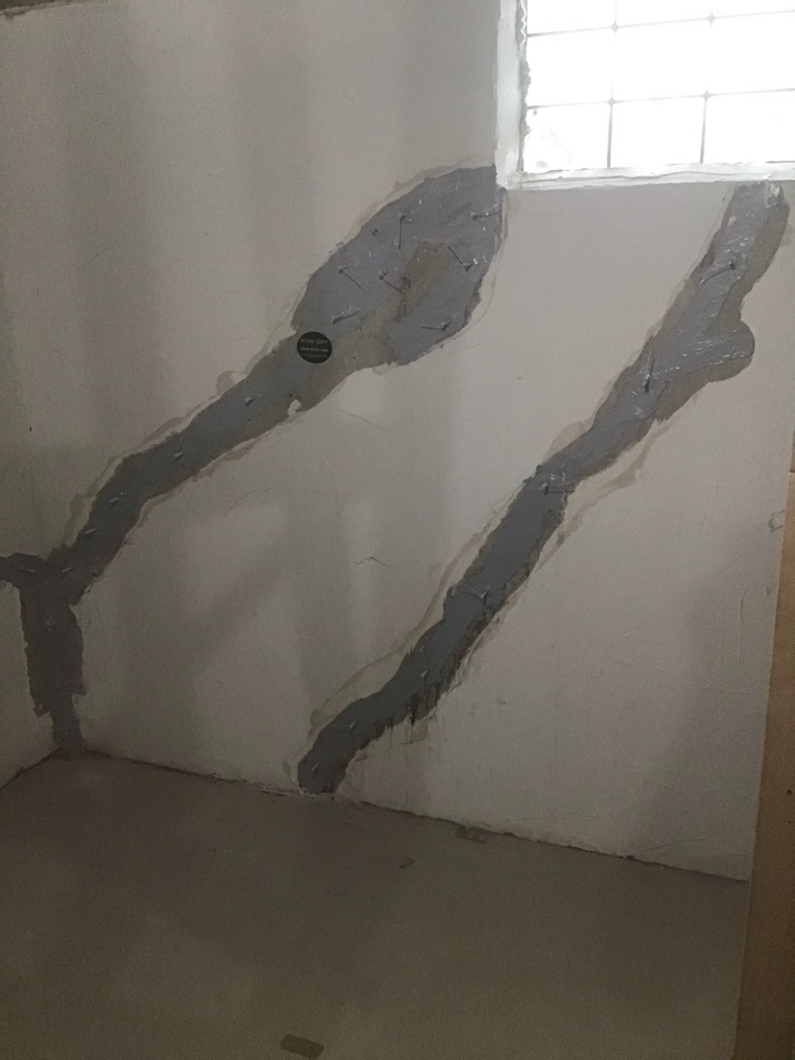 We injected multiple cracks in this basement for waterproofing purposes. Now they have an automatic transferable waterproofing warranty!