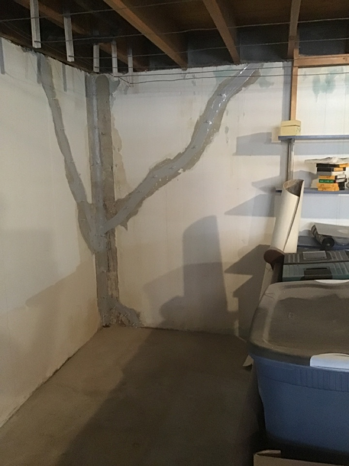 This home has a lot of cracks in the basement. They called us to stop their house from leaking and flooding the basement. We injected numerous cracks and gave life of the structure waterproofing warranties on the work!