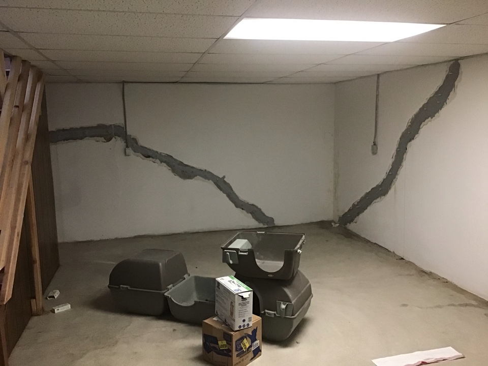 This property had walls that were moving creating cracks that were leaking. Their basement was unusable.The owner hired us now feel confident about their dry basement.