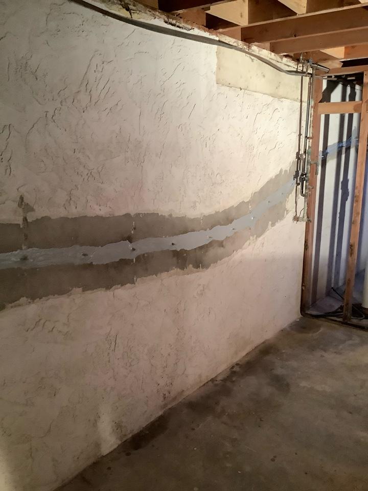 Kirkwood, MO - Horizontal crack injected with epoxy.