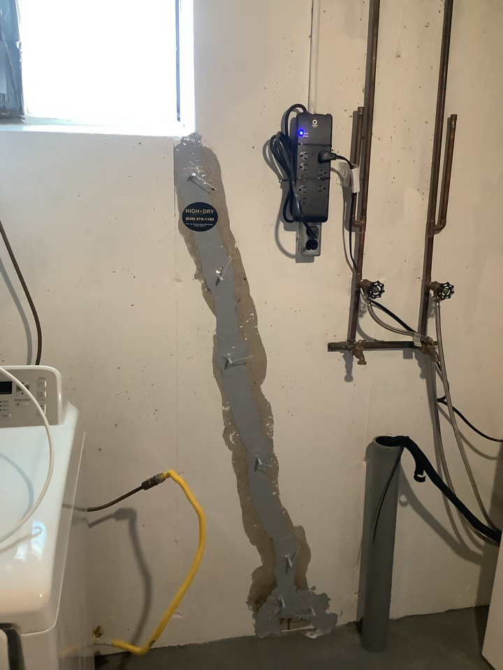 St. Louis, MO - Basement crack repair with standard waterproofing warranty