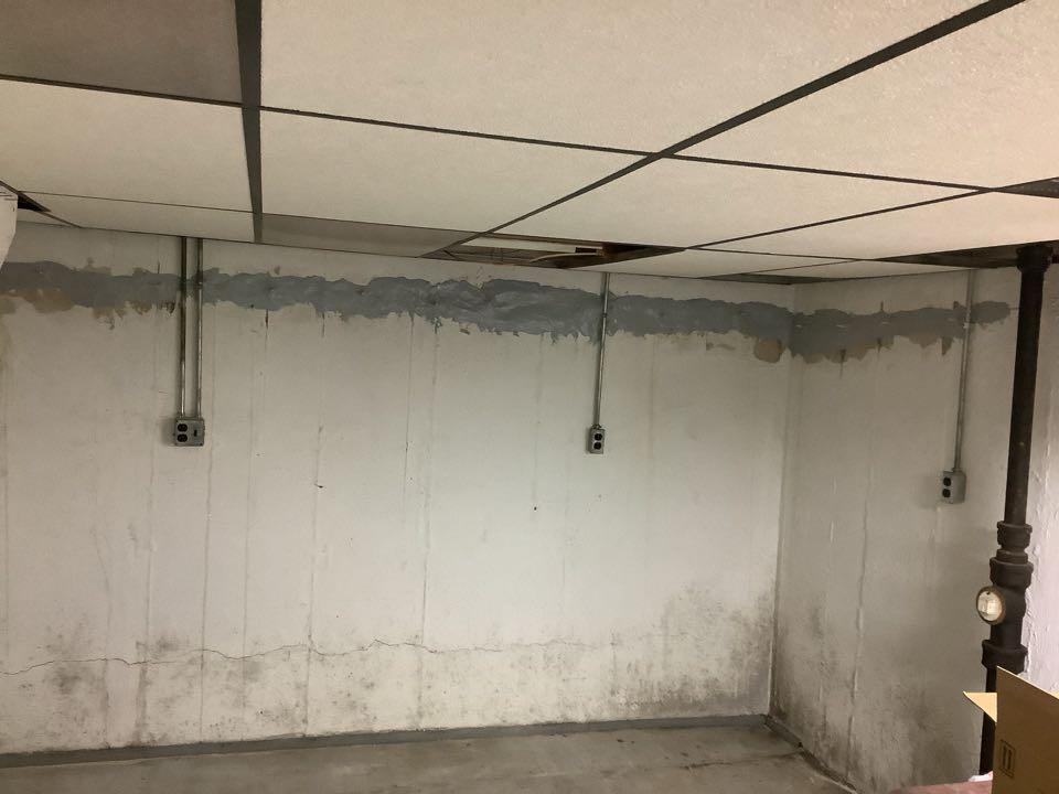 Ballwin, MO - Basement rebar blowout repair