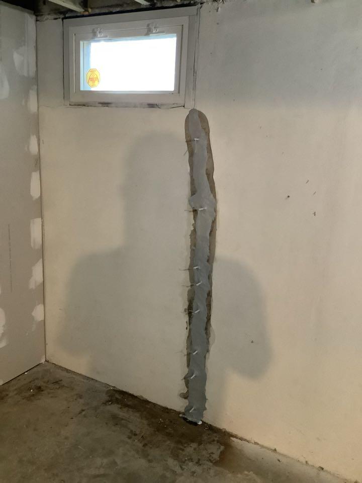 Crack repair with standard waterproofing warranty