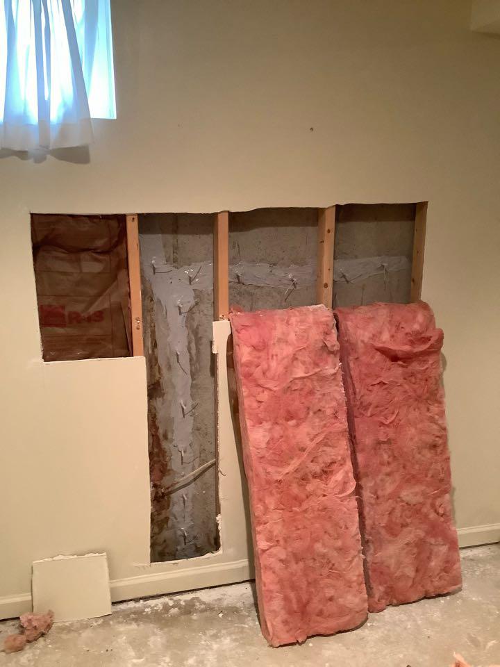 Leaking cracks in a basement wall