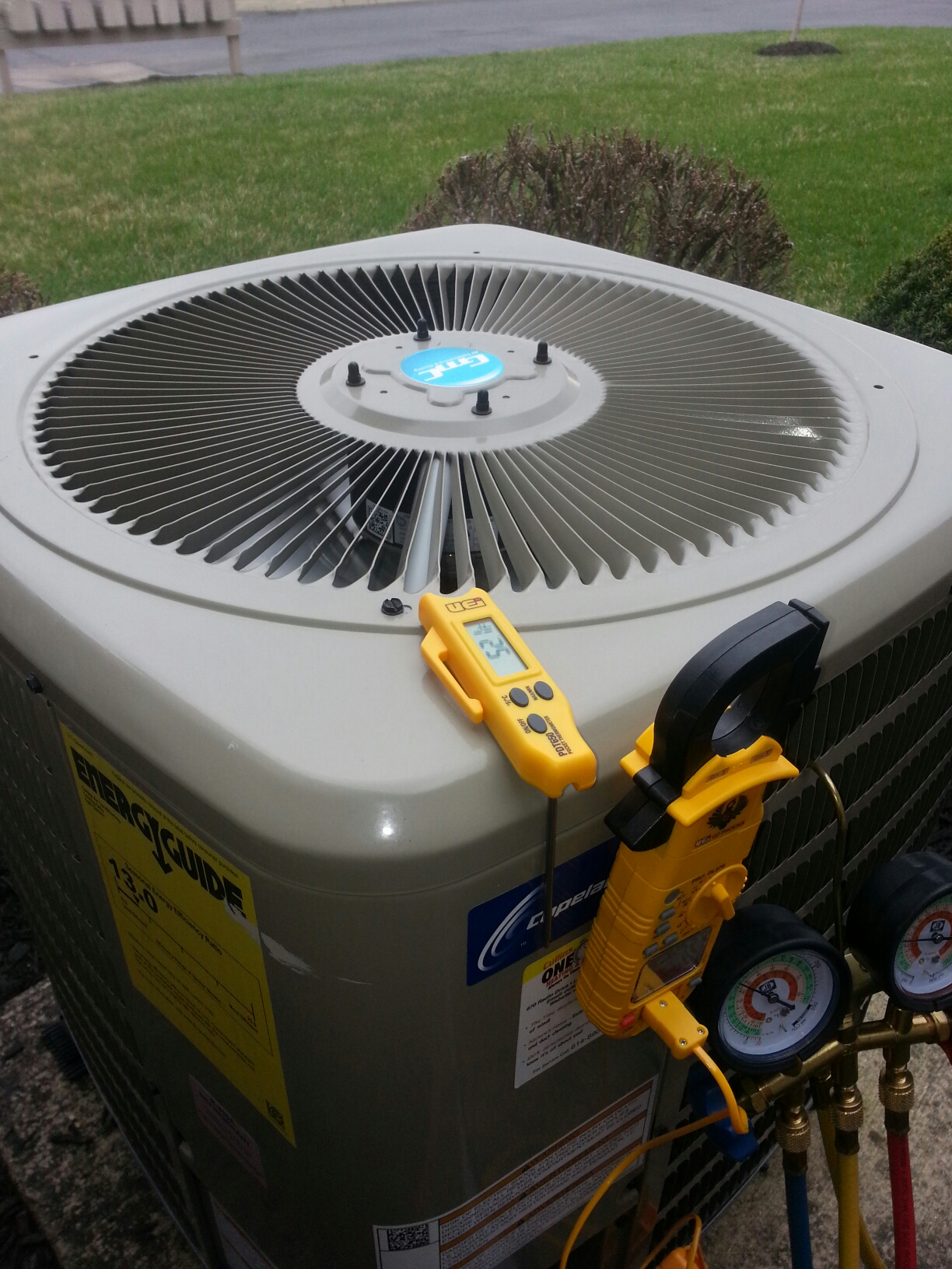 Grove City, OH - Air conditioning annual tune up on Goodman equipment.
