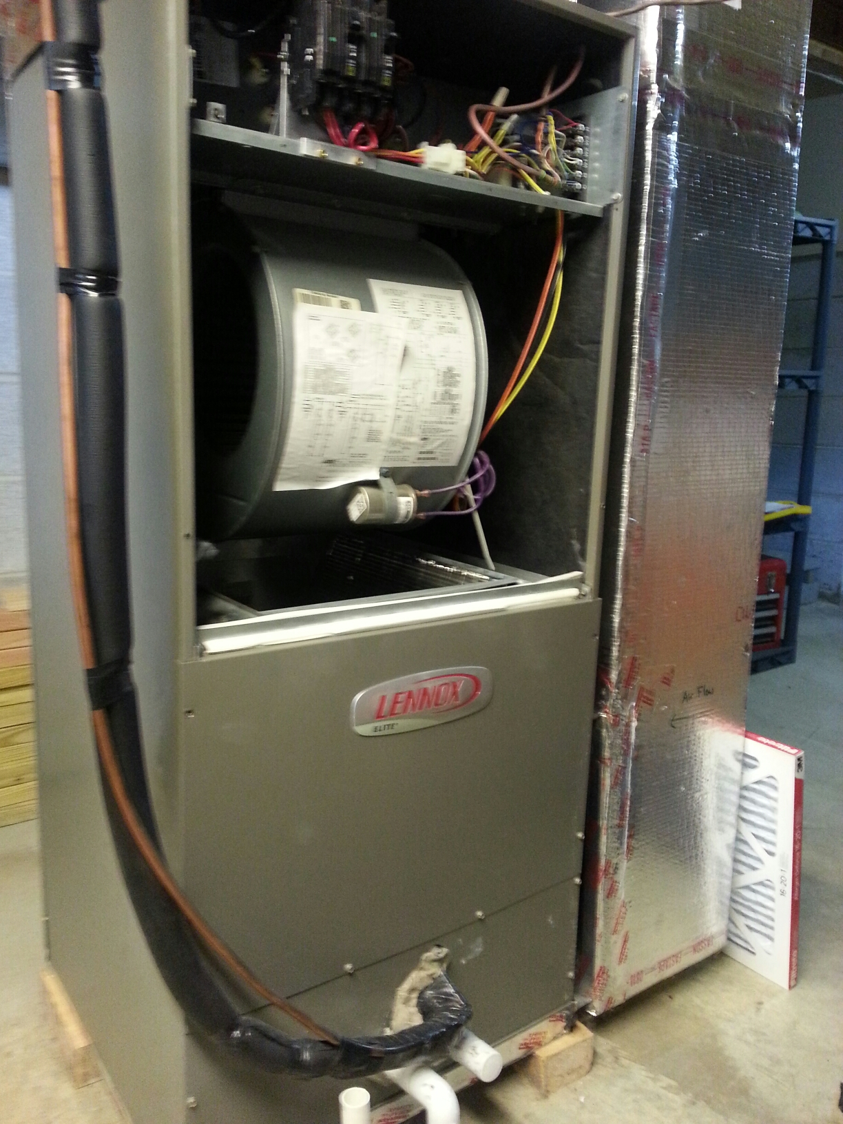 Grove City, OH - Replacing Lennox Elite electric furnace and Heat pump.