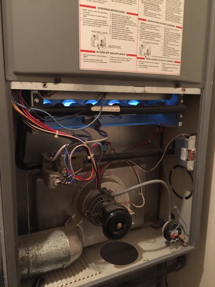 Delaware, OH - Repairing a Tempstar furnace.