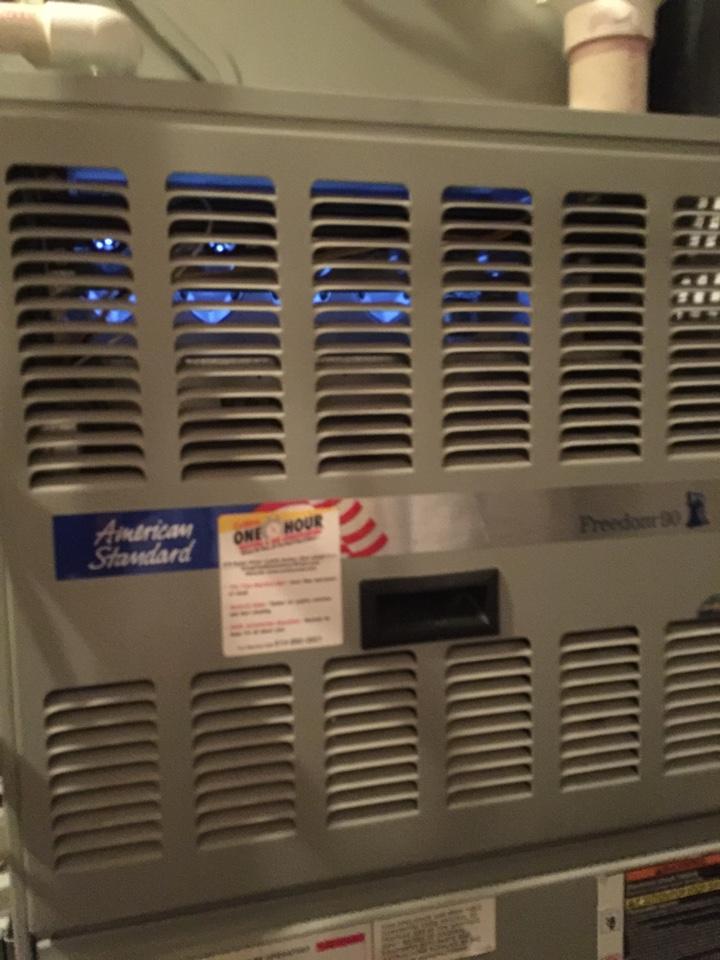 Delaware, OH - Repairing a Trane has furnace.