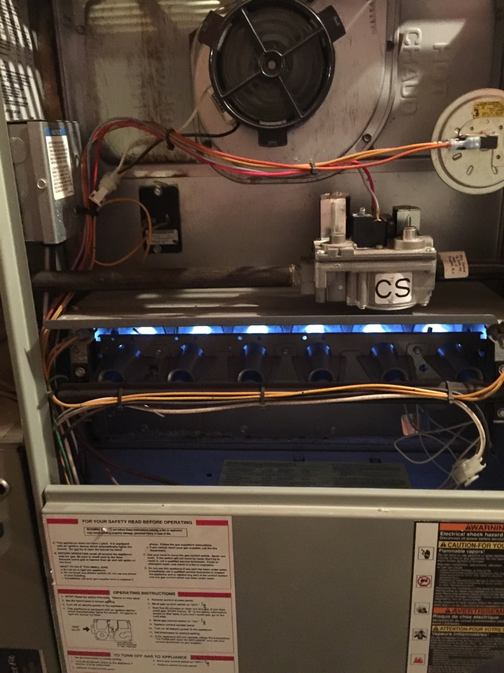 Powell, OH - Trane gas furnace service
