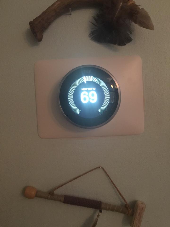 Reynoldsburg, OH - Installing a Nest thermostat.