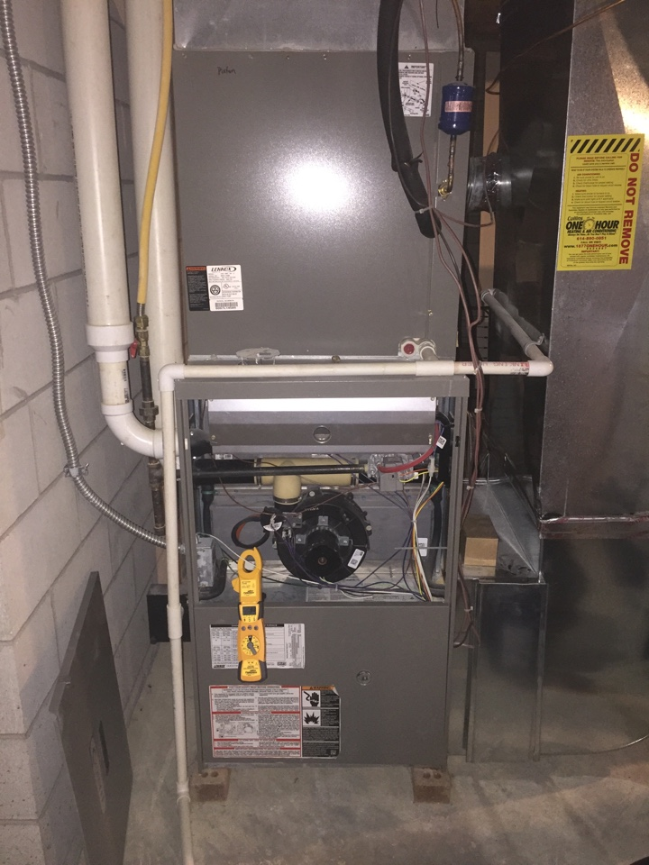 Dublin, OH - Tune up on a 7 year old Lennox Gas Furnace!