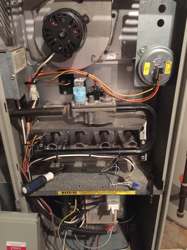 Lewis Center, OH - Working on a Trane furnace.