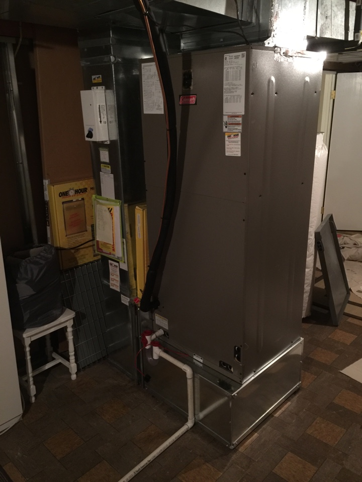 Dublin, OH - Installation of Coleman Electric Furnace and Heatpump