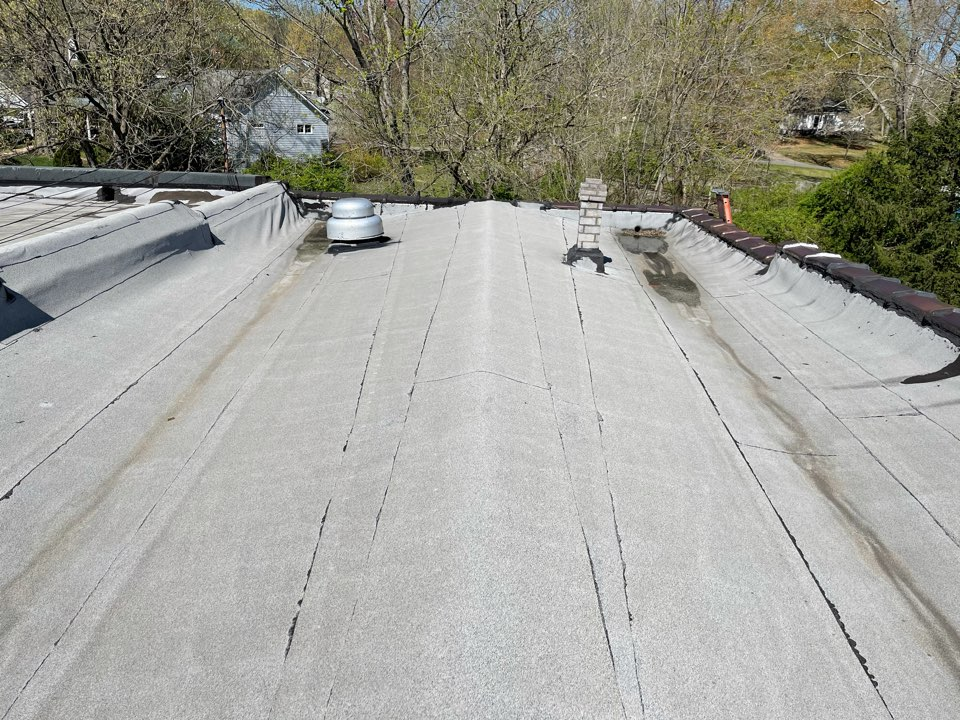 Ball Ground, GA - Commercial roof replacement - the existing modified bitumen roof is at the end of its life and is leaking in multiple areas. We will remove the existing roof to the deck, install 25 r-value ISO insulation, and fully adhere a GAF 60 mil TPO system over the entire roof.