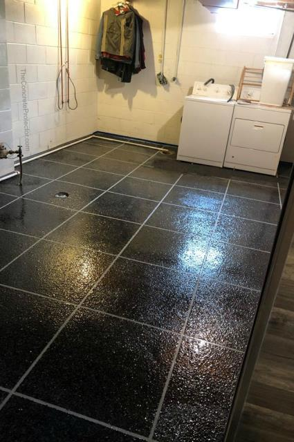 Transform your utility room with a new floor that protects against unexpected water bursts with the Epoxy Flake Tile system!
