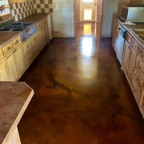 Who would've thought a kitchen could look this nice?!?!? I love the quality and the smooth look! It makes me want to spend all my time cooking in the kitchen lol. Definitely contact Xtreme Concrete Coatings for any of your decorative/flooring needs! They did an amazing job on this floor!