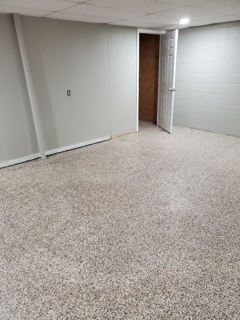 Madisonville, KY - The crew finished repairing and coating this basement floor in Madisonville Kentucky!