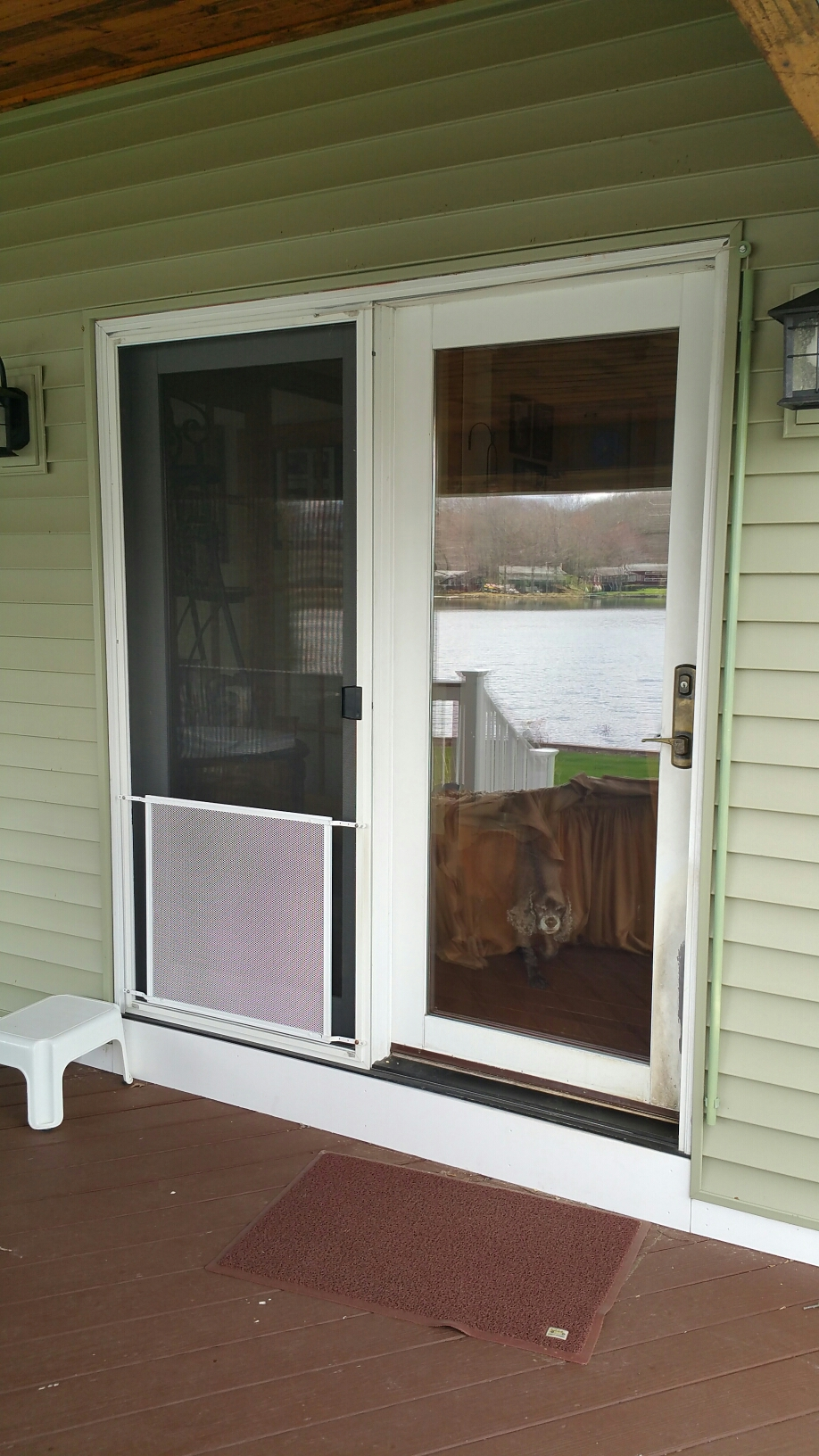 Norwich, CT - This patio door lasted just 11 years before it started to rot... They should have used Renewal by Andersen and then they wouldn't be in this position. A new Renewal by Andersen frenchwood gliding door is on its way!
