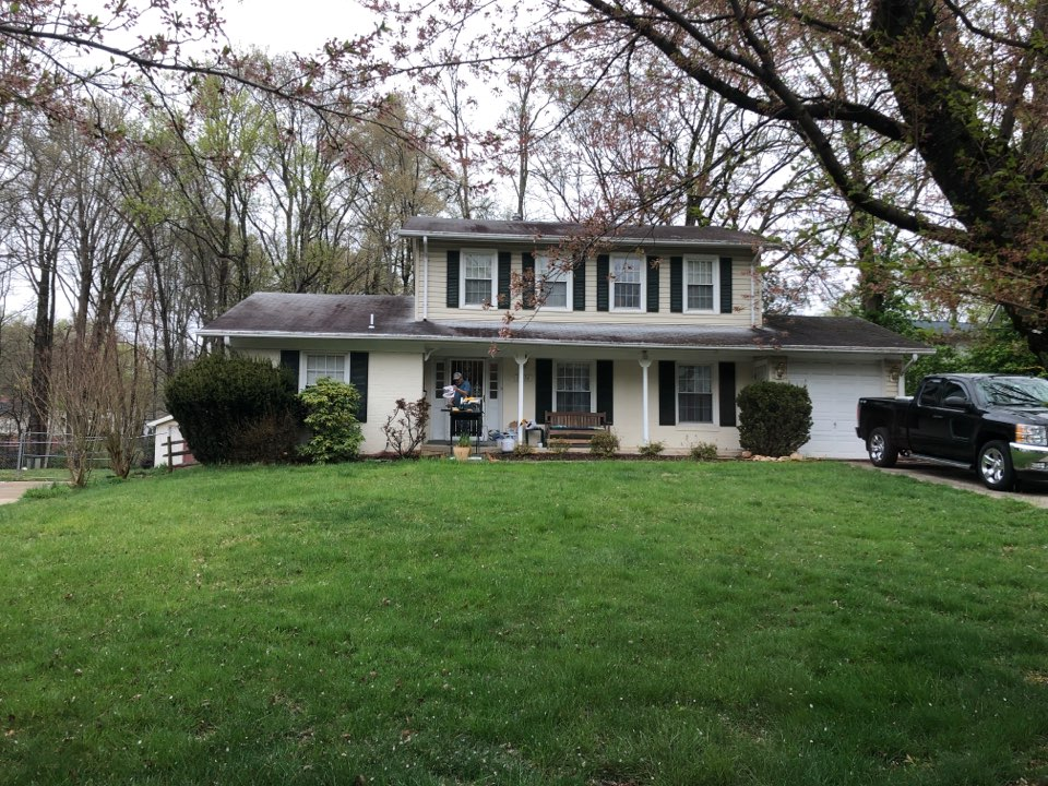 Rockville, MD - New roof and new siding requested. Roof is old and missing shingles and siding has holes in it. Replace with GAF timberline shingles and James Hardie fiber cement plank.