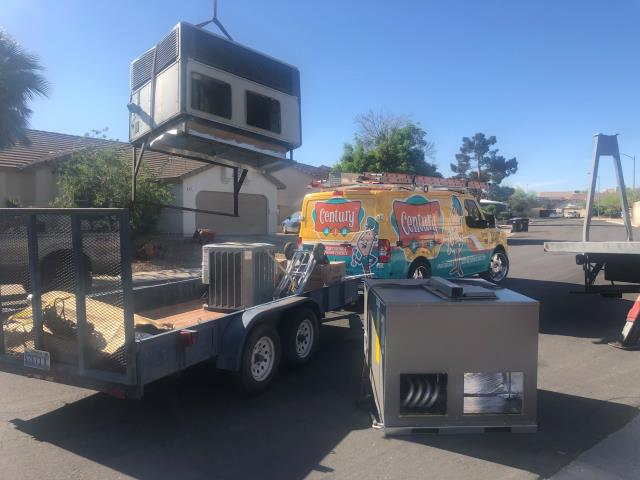 Henderson, NV - Install new 4 Ton RUUD brand gas rooftop A/C unit