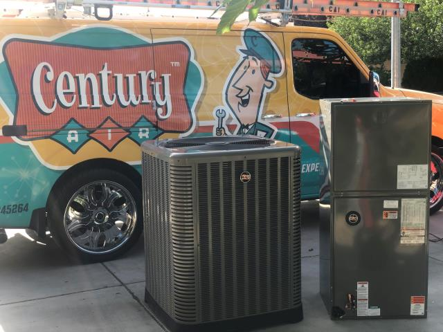 Las Vegas, NV - Complete new installation of RUUD brand complete Heat Pump split system. (New Indoor Air Handler, New Indoor Evaporator Coil, New Outdoor Heat Pump Condensing Unit) and charge up system with eco friendly R410 refrigerant. Installed in historic Huntridge neighborhood.