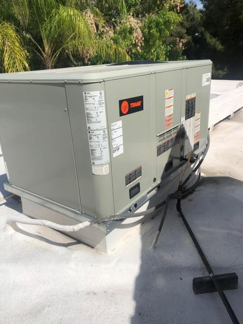 Las Vegas, NV - Repair Install new Compressor for 5 ton Trane brand rooftop gas heat air conditioning system.