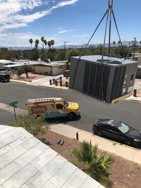 Las Vegas, NV - New installation of a RUUD 2.5 ton 14 seer rooftop gas A/C unit. 10 year standard warranty.