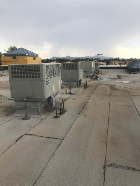 Las Vegas, NV - Air Conditioning repairs made on 4 American Standard brand commercial roof top units 3 phase.