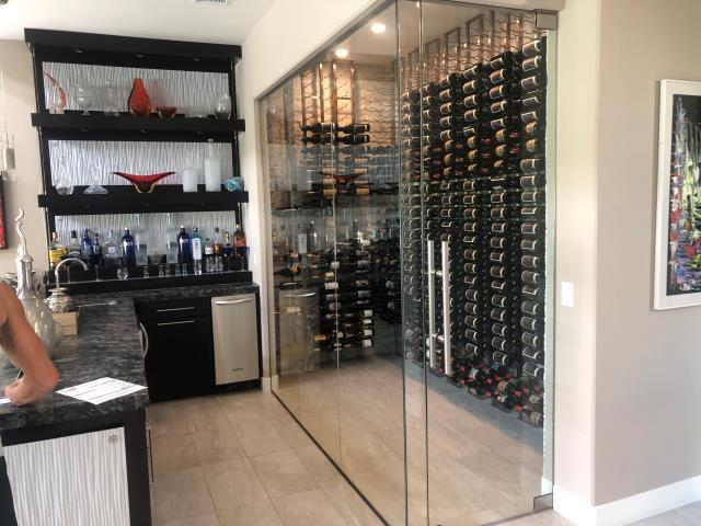 Las Vegas, NV - Performed our Annual maintenance tune up for custom built wine room refrigeration system for the Ridges community in Summerlin.