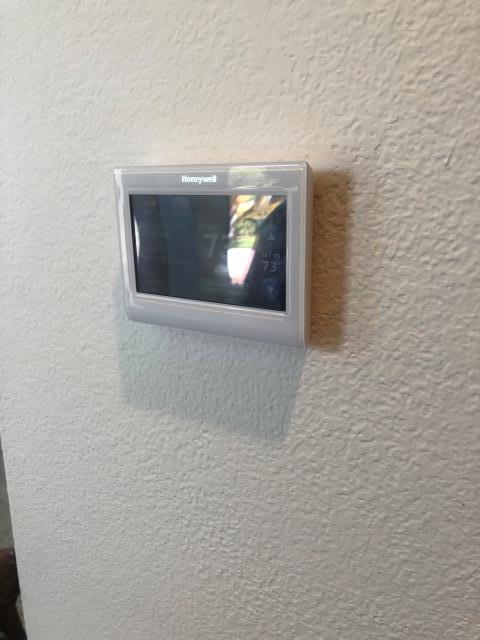 Las Vegas, NV - Install new Honeywell WIFI color touchscreen programmable thermostat in Spanish Trails Community.