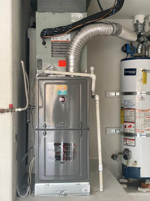 New installation of a RUUD brand gas furnace with  American Standard indoor evaporator coil.