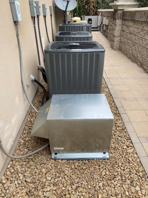 Henderson, NV - Install new custom built refrigeration unit for wine cellar in Henderson Anthem Community.