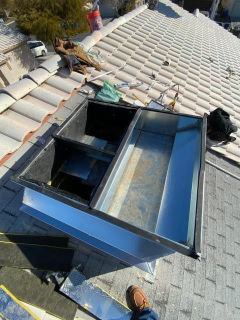 Custom sheet metal fabrication of roof curb for Goodman 3 ton gas roof top ac unit in sunrise mountain