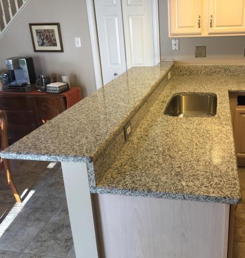 Chester, VA - Classic Luna Pearl granite was installed today!