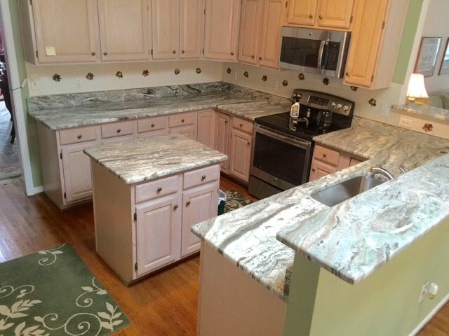 Henrico, VA - My sweet client loves her new granite countertop that we just installed.  The fantasy brown has the most beautiful movements.