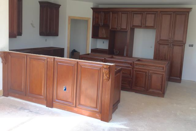 Sandy Hook, VA - Coffee maple cabinets for the kitchen and master bath for this nice couple.  A few months ago, we installed their parents kitchen.  It has been a real joy working with the whole family.