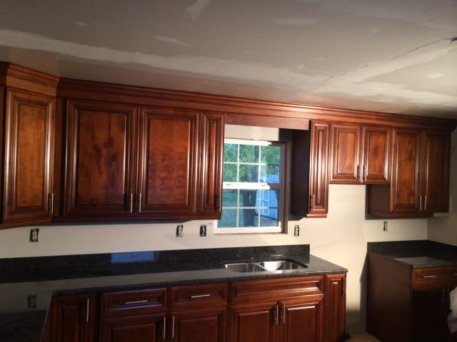 Richmond, VA - Our installers just completed this beautiful coffee maple kitchen cabinets with Tan Brown granite countertop.  It has been a great experience working with my client from the beginning to finish.