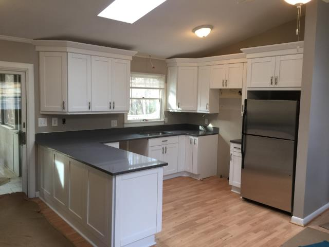Ruther Glen, VA - We just completed a second kitchen for my awesome client.  White single shaker maple cabinets with the Concrete Gray quartz countertop.  Their new kitchen is stunning!!!!