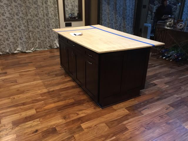 Mechanicsville, VA - Just completed the Espresso Single Shaker cabinets for my client's island.  It has been a pleasure working with my client.