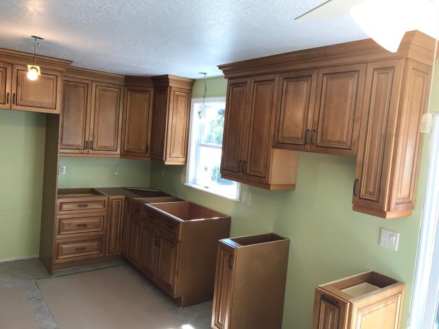 Henrico, VA - Our company just completed the installation for the Fecteau's kitchen with our in stock Beaded Rope maple cabinets.  My client  is super pleased with our installers.