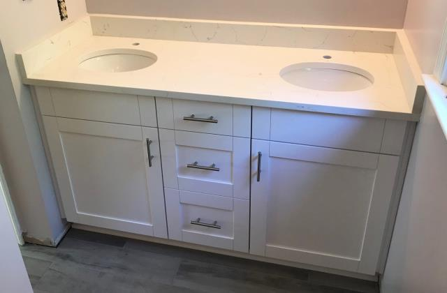 Chester, VA - Early this year we installed a brand new kitchen for my client.  Last week we went back to install two more vanities for her.   It has been a real pleasure working with a return client and look forward to more projects in the future.