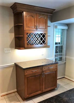 Midlothian, VA - Such a treat to install this add on piece for a customer who purchased their kitchen 9 years ago. The main kitchen still looks brand new!