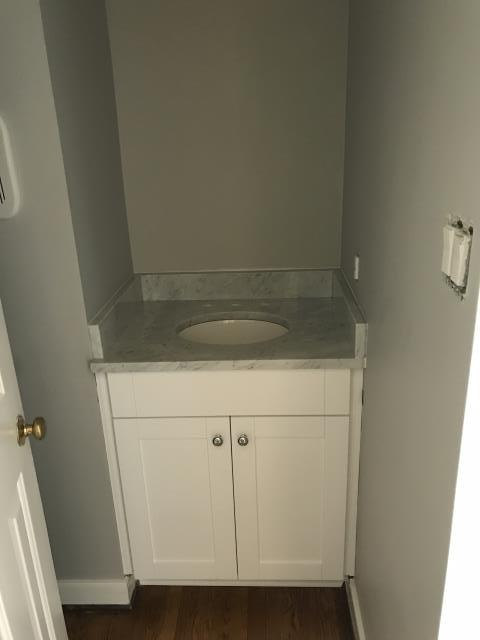Richmond, VA - White Shaker vanity cabinet with the Carrara White Marble  updated this bathroom.