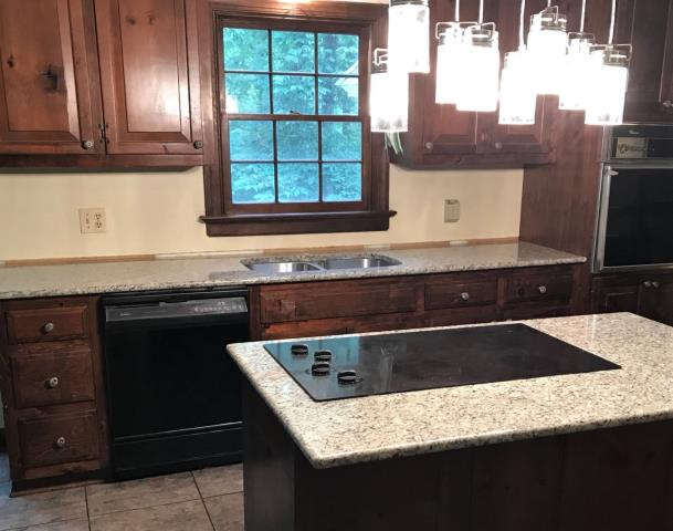 Richmond, VA - Finished installing a White Tulum granite for one of our busy contractors.