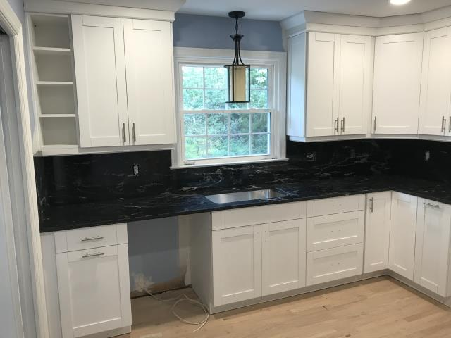 Richmond, VA - This is the third kitchen we completed for my loyal client.  The Paradiso Silver paired with the white shaker is definitely a classic.