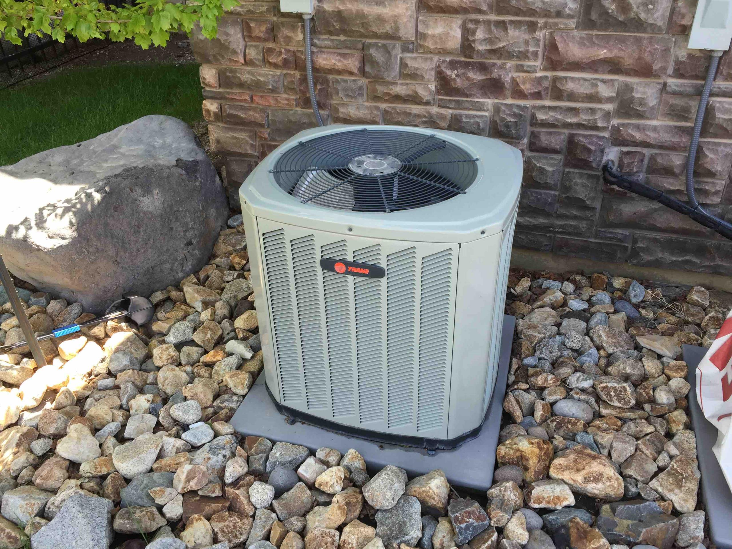 Draper, UT - servicing 1 of the 3 Trane air conditioners